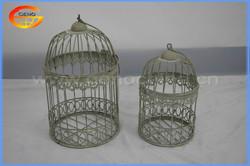 Metal bird cage with dark green color