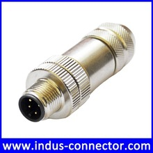 Field assembly connector male 4 pin shielded m12 connector
