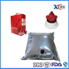 High quality best price laminated pa/pe plastic wine bag