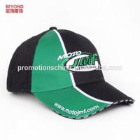 custom cotton patchwork long velcro car racing baseball cap