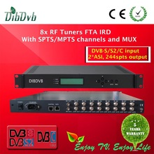 Professional DVB-S/S2 FTA satellite receiver and ip gateway with spts mpts biss