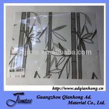 waterproof pvc shower door decorative film