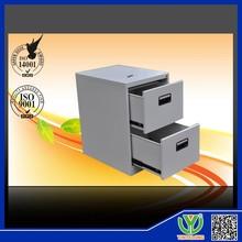 Precio barato, mueblesdeoficina 2 vertical del cajón de metal del gabinete de archivo con la cerradura