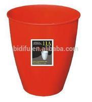 plastic round dust bin Fashion Flower Design Dust Bin/ Waste Bin plastic trash can,dust bin , bin