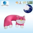 Customized Design Plush Microbeads Travel Pillow, Microbeans U shaped Travel Pillow,