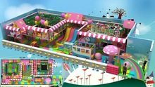 2015 Hot sales for Candy theme kids soft play park