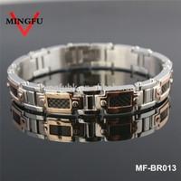 luxury carbon fiber plated rose gold bracelet 18k