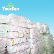 100% available clothlike backsheet B grade baby diapers
