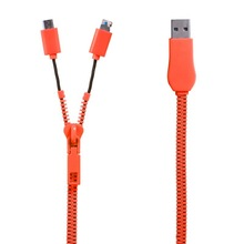 china supply zipper usb cable for mobile phone
