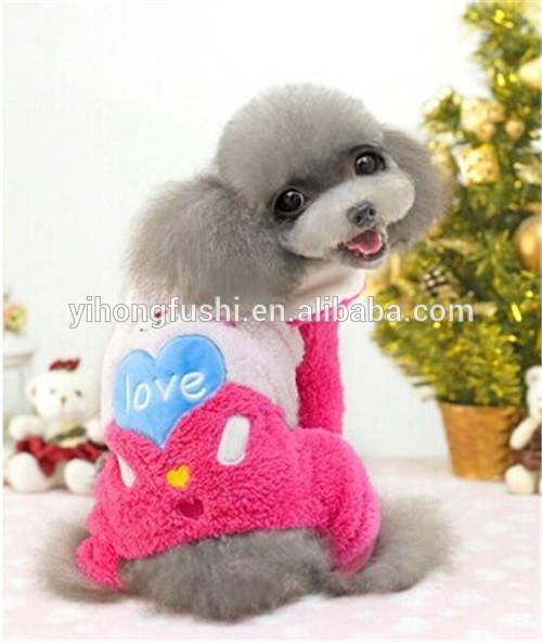 2015 abbigliamento per cani di fabbrica/inverno giaccain pile/lavoro a maglia modelli peri vestiti del cane