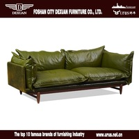 Latest product living room furniture Italy leather feather filling modern sofa