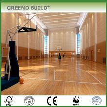 Maple Hardwood 22mm indoor basketball court wood flooring