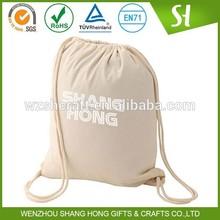 Custom high quality drawstring bag cotton