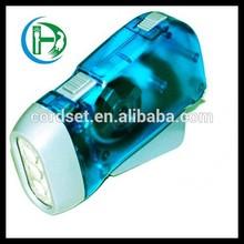 ABS Material hand crank led flashlight