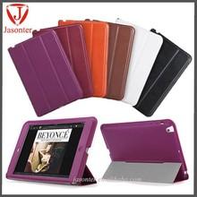 2014 Best product folio sleep wake high quality leather handle case for ipad mini