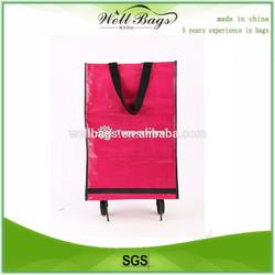 Folding shopping bag with wheels, trolley shopping bag,folding bag