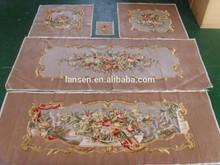 Artificial handmade aubusson silk sofa cover