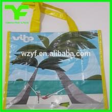China reusable durable handle plastic woven bag