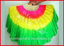 colores 3 de danza del vientre abanico de seda