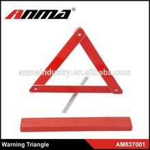 Safety reflective warning triangle, car emergency tool kit
