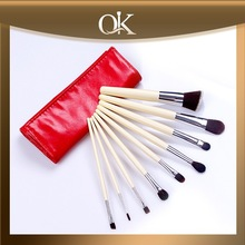 QK custom white handle goat hair make up brush