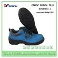 camurça da vaca couro resistente a óleo azul sf1803 reis sapatos de segurança