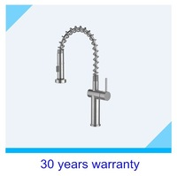Stainless steel 304 pull out Black kitchen faucets