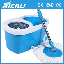 2015 newest design double top spin mop 360 degree supa mop color mop head