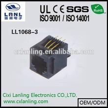 rj12 jack 6P6C pcb jack socket switched/623pcb jack
