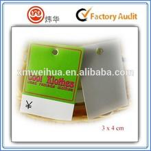 green hang tag one-side printing glossy film