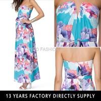 SUMMER DRESS 2015 new fashion Colorful Beach Tube Women Chiffon Evening Dress