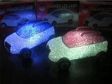 new fashion LED colorful crystal small toy cars