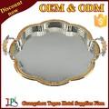 Venta caliente bandeja de la porción/impresos personalizados que sirve la bandeja/de acero inoxidable que sirve la bandeja t269