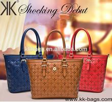 Best quality female Wholesale Genuine leather handbags fashion ladies hollow design handbags