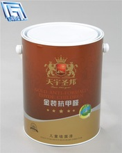 Interior Emulsion Paint mini steel tin can 5L metal can
