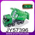 Modelo de carro público cor verde de plástico de fricção de lixo caminhão de brinquedo