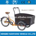 família pedal de três rodas triciclo de carga para a venda