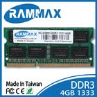 Taiwan ddr ram;ddr3 4gb ram memory;ddr3 ram;1333 4G sodimm