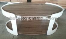 Projeto novo papel granulado& acabamento de alto brilho mesa de café