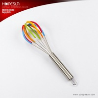 10'' stainless steel egg wisk with silicone