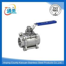 stainless steel ball valve handle &3PC stainless steel ball valve