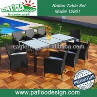 outdoor rattan furniture wicker garden rattan dining table 8 persons