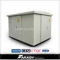 17.5kv 15kv 33kv 630 kva prefabricados compacto transformador de la subestación tipo kiosco fabricante de china