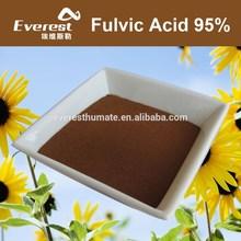 Bio Fulvic Acid 95% Powder For Foliar Fertilizer, 100% Water Solubility