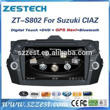 ZESTECH Factory OEM 2015 digital tv tuner MP3 mp4 player 1080P car audio for suzuki Keietsu