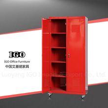 IGO-Furniture 2 door cupboard,steel wardrobe cabinet beautiful folding bedroom wardrobes
