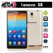 Original Lenovo S8 MTK6592 octa Core smartphone 5.3'' Gorilla Glass 8MP 2GB RAM 16GB ROM Android 4.2 mobile phone Russian GPS