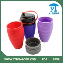 2015 Innovative High quality colorful Folding Sports Water Bottle