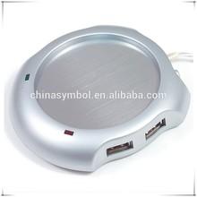 USB mug warmer with HUB