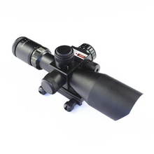 Wholesale high power infrared night vision military rifle scope, rifle optic scope with red dot laser sight scope